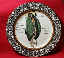 Vintage Royal Doulton Proverbs Plate D3391 *You Can'T Teach Old Dog New Tricks*