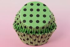 """200ea. 2"""" Assorted Black Dot Cupcake Liners Muffin Dessert Baking Cup"""