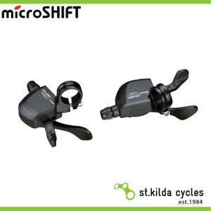 Microshift Mtb Shifter Set - Xle 10 - 3 X 10 Speed - Flat Bar Xpress Trigger