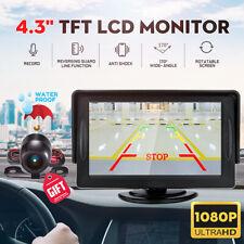 CAR PARKING 4.3'' LCD MONITOR REVERSING BACKUP COLORED CAMERA REAR VIEW KIT