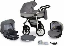 New Baby Pram Buggy 3in1 Stroller Pushchair Car Seat Carrycot Travel System