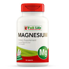 Full Life Magnesium 500mg - Dietary Supplement 90 Tablets - Support Bone Density