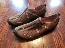Privo Women's Shoes Zipper Leather Brown Pink 9M 9
