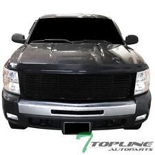 Topline For 2007-2013 Chevy Silverado 1500 Horizontal Front Bumper Grille - Blk