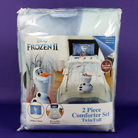 Disney Frozen 2 Olaf Kid's Reversible 2 Piece Comforter Sham Set Twin / Full