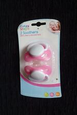 Baby sleeping GIRL newborn+ NEW! 2 soothers/pacifiers/dummies pink SEE SHOP!