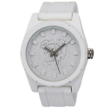 Diesel Rubber Company All White Logo Analog Strap Mens Watch DZ1590