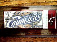 "2003 LEBRON JAMES ""CAVALIERS"" 1ST HOME GAME vs""CHICAGO BULLS"" FULL TICKET STUB"