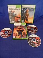 Lot of 5 XBox 360;Gears of War 1& 2,Gears of War Judgment-w/Full Downld,Halo 3,+