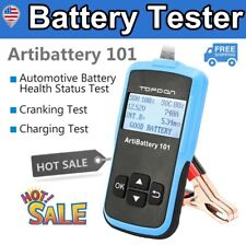 US Car Automotive Battery Tester Crank Charging System Auto Analyzer 100~2000CCA