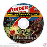 Wonder Stories, Vol 1, 38 Vintage Pulp Magazine, Golden Science Fiction DVD C61
