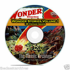 Wonder Stories, Vol 1, 38 Vintage Pulp Magazine, Golden Science Fiction DVD C61