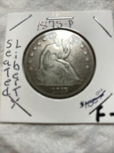 1875-P Liberty Half Dollar Fine Details Are Fantastic