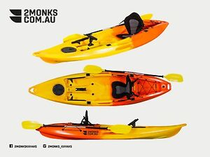 """Brand New 3.1M Fishing Kayak 1.5 Seater """"Glide"""" 1 Adult and 1 Kid Double Tandem"""