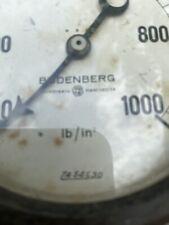 Vintage Presdure Gauge Budenberg Manchester 0-1000 LbsqIn