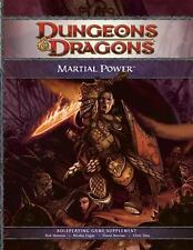 DUNGEONS AND DRAGONS MARTIAL POWER HARDCOVER 4E D&D HARDCOVER BRAND NEW