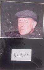 RICHARD WILSON ONE FOOT IN THE GRAVE HAND SIGNED 16 X 12 INCH PHOTO MOUNTED