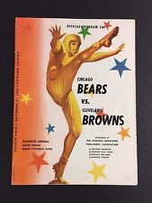 1956 Nfl Program Cleveland Browns Vs Chicago Bears Soldiers Field Football