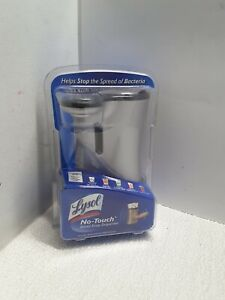 New Lysol No-Touch Hand Soap Dispenser Color: Silver/Grey  DISCONTINUED