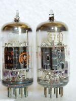 Matched Pair RCA JAC-5751WA Black Plates 2 Mica O Getter=12AX7 ECC83 TUBES