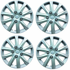 "Phoenix 14"" Car Wheel Trims Hub Caps Plastic Covers Silver Universal (4Pcs)"