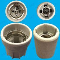 E27, ES or E14, SES Ceramic Screw Lamp Socket, High Temp Light Bulb Base Holder