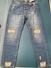"Superdry harper boyfriend Distressed Ripped jeans waist 32"" Leg 30"" BNWT"
