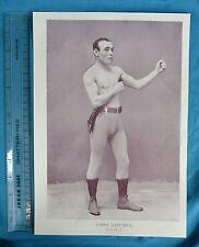 Original 1894 Antique print Portrait Gallery of pugilistes Tommy Danforth Boxer