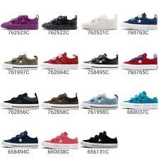 Converse One Star 2V 3V Straps Women Kids TD Toddler Infant Shoes Sneaker Pick 1