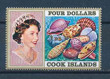 COOK ISLANDS 1974 DEFINITIVES SEA SHELLS SG484 $4 MNH