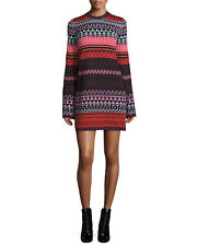 McQ Alexander McQueen Long-Sleeve Fair Isle Tunic Dress  $380 Size Lg