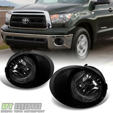 Smoke 2007-2013 Toyota Tundra [Chrome Bumper] Fog Lights Switch+Bulbs Left+Right