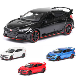 Honda Civic Type R Alloy Toy Cars Model Diecast 1:32 with Sound&Light