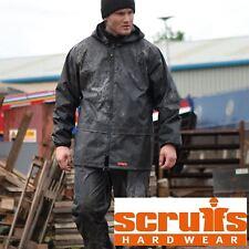 Rain Jacket & Waterproof Trousers 2 Piece Suit Scruffs Workwear/Motorbike LARGE