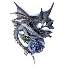 Dragon Beauty Wall Plaque 40cm High Purple Rose Gothic Nemesis Now Anne Stokes
