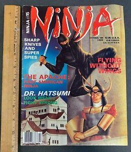 VINTAGE 1986 NINJA SHARP KNIVES AND SUPER SPIES MAGAZINE OCTOBER #15 61821