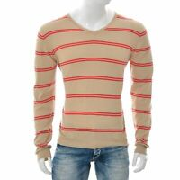 Massimo Dutti Hommes 100% Coton Pull Col V Pull Taille M/38 Couleurs