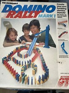 The Incredible Domino Rally Mark 1 Game Vintage and ghost train set