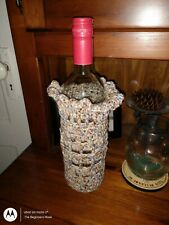 Crochet Wine Bottle Bag