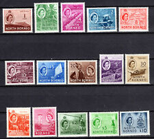 MALAYA STRAITS SETTLEMENTS 1954 QEII NORTH BORNEO COMPLETE SET OF MNH STAMPS