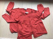 Caramel London Baby Designer Set Of 2 Orange Cardigan + Sweater