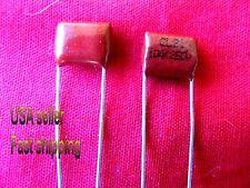 12 pcs  -  .1uf  (0.1uf)  250v  metalized film capacitors (rd)