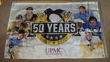 "PITTSBURGH PENGUINS 50 YEARS 36""x57"" BANNER FLAG SGA"