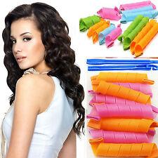 18pcs/set Hair Styling Roller DIY Magic Circle Curler Leverag Stick Spiral Curls