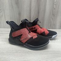 Nike Lebron Soldier XII 12 Basketball Shoes Black Red AO2609-003 Men's. Size 9