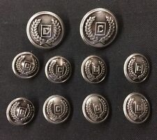 Mens Chaps Blazer Buttons Set C Monogram