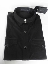 New RALPH LAUREN Black Label Cotton Black Polo Short Sleeve Shirt SMALL RRP £175