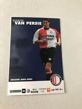 Spelerskaart Topspieler Feyenoord 02-03 Robin van Persie