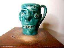 randy paul tobias face jugs, pottery,  ( cup  6'' x5'''  )