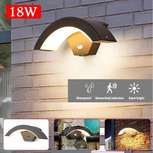 LED Außenleuchte Wand-Leuchte Hausbeleuchtung mit Bewegungsmelder Anthrazit DHL